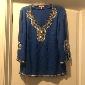 Lilly Pulitzer Beaded Blouse size small